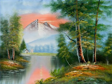 Techniken der Bob Ross Werke - Scenic Berg Afterglow Stil von Bob Ross