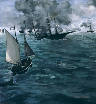 Kriegsschiff Seeschlacht Werke - Battle of Kearsage and Alabama Eduard Manet