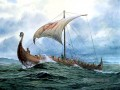 viking ship at sea amazing ships
