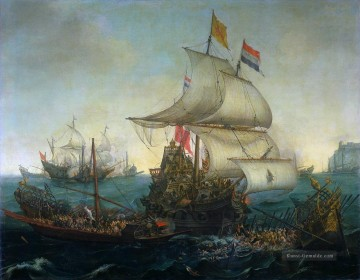 Kriegsschiff Seeschlacht Werke - dutch ship running down spanish gallyes