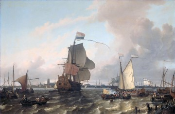 Kriegsschiff Seeschlacht Werke - Het oorlogsschip The Kriegsschiff Seeschlacht Brielle on the Maas before Rotterdam Ludolf Backhuysen 1689