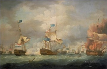 Kriegsschiff Seeschlacht Werke - Thomas Whitcombe Battle of Camperdown