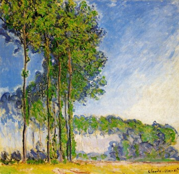 Gehölz Gemälde - Poplars View from the Marsh Claude Monet Wald