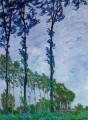 Poplars Wind Effect Claude Monet Wald