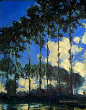 Gehölz Gemälde - Poplars on the Banks of the Epte Claude Monet Wald