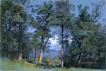Coppet See Geneva Szenerie William Stanley Haseltine Wald Ölgemälde