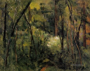 Gehölz Gemälde - In the Woods 2 Paul Cezanne