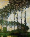 Poplars near Giverny Overcast Weather Claude Monet Wald