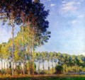Poplars on the Banks of the River Epte Seen from the Marsh Claude Monet Wald