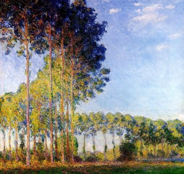 Gehölz Werke - Poplars on the Banks of the River Epte Seen from the Marsh Claude Monet Wald