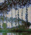 Poplars on the Banks of the River Epte at Dusk Claude Monet Wald