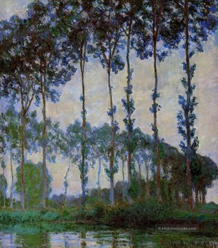 Gehölz Werke - Poplars on the Banks of the River Epte at Dusk Claude Monet Wald