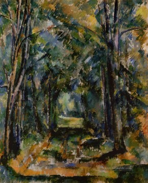 The Alley in Chantilly 1888 Paul Cezanne Wald Ölgemälde