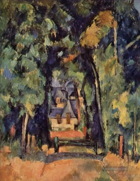 The Alley in Chantilly 2 Paul Cezanne Wald Ölgemälde