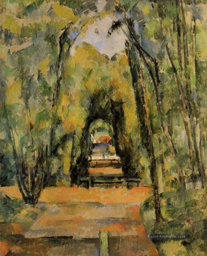 The Alley in Chantilly Paul Cezanne Wald Ölgemälde