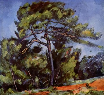 Gehölz Gemälde - The Great Pine Paul Cezanne Wald