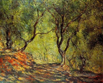 Gehölz Gemälde - The Olive Tree Wood in the Moreno Garden Claude Monet Wald