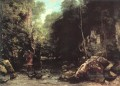The Shaded Stream The Stream of the Puits Noir Landschaft Gustave Courbet Wald