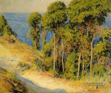 Gehölz Gemälde - Trees Along the Coast aka Road to the Sea Landschaft Joseph DeCamp Wald