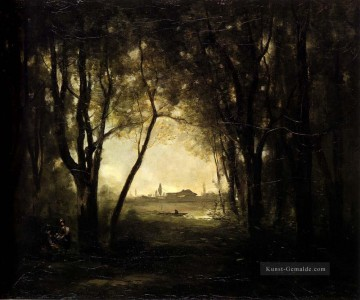 jean - Camille Landschaft mit See Jean Baptiste Camille Corot Wald