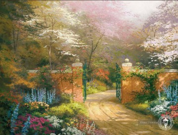 Tor von New Beginnings Thomas Kinkade Wald Ölgemälde