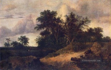 Gehölz Gemälde - Landschaft With A House In The Grove Jacob Isaakszoon van Ruisdael Wald