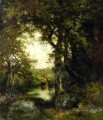 Pool im Wald Long Island Landschaft Thomas Moran