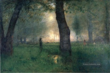 Gehölz Werke - The Trout Brook Landschaft Tonalist George Inness Wald