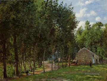 Gehölz Gemälde - the house in the forest 1872 Camille Pissarro