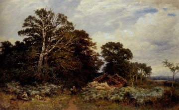 A Surrey Woodland Landschaft Benjamin Williams Leader Wald Ölgemälde
