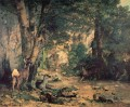 A Thicket of Deer at the Stream of Plaisir Fountaine Realismus Gustave Courbet Wald