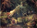 Slave Jagd Dismal Swamp Virginia Landschaft Thomas Moran Wald