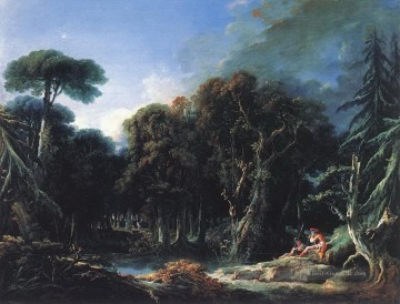 Gehölz Gemälde - The Forest Francois Boucher