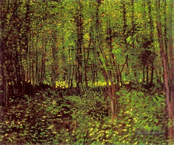 Gehölz Gemälde - Trees and Undergrowth Vincent van Gogh Wald