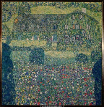Gehölz Gemälde - Country House by the Attersee Gustav Klimt Wald