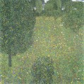 Landschaftsgarten Meadow in Flower Gustav Klimt Wald