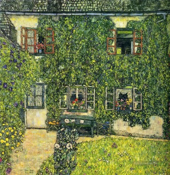 Gehölz Gemälde - The House of Guardaboschi Gustav Klimt Wald