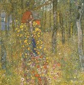 Farm Garden with Crucifix Gustav Klimt Wald