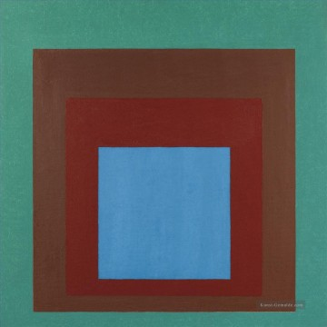 Moderne Werke - STUDY TO HOMAGE TO THE SQUARE PROTECTED BLUE Moderne