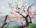 Peach Blossom Dancing in Spring Wind Moderne