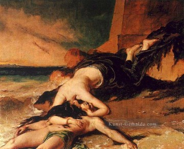Hero und Leander William Etty Nacktheit Ölgemälde