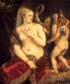 Venus in front of the mirror 1553 Nacktheit Titian