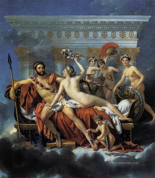 Klassischer Menschlicher Körper Werke - Mars Disarmed by Venus and the Three Graces Jacques Louis David Nacktheit