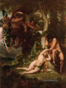 Klassischer Menschlicher Körper Werke - The Expulsion of Adam and Eve from the Garden of Paradise Alexandre Cabanel Nacktheit