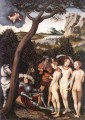 The Judgment Of Paris 1528 religiösen Lucas Cranach the Elder Nacktheit