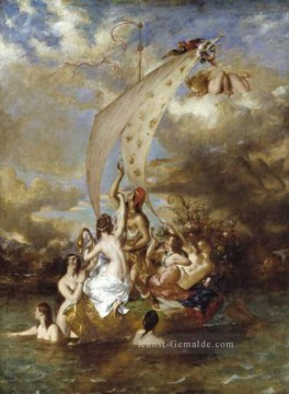 Klassischer Menschlicher Körper Werke - Youth at the Prow Pleasure at the Helm William Etty Nacktheit