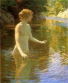 Enchanted Pool Impressionist Nacktheit John Henry Twachtman