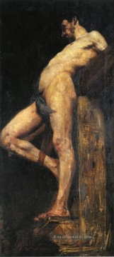 Nacktheit und Balletttänzerin Gemälde - Crucified Thief male body Lovis Corinth