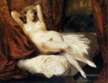 Female Nude Reclining on a Divan romantische Eugene Delacroix