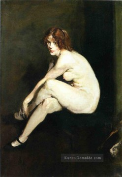 Nacktheit und Balletttänzerin Gemälde - Nude Girl Miss Leslie Hall Realist Ashcan School George Wesley Bellows